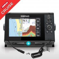 Sonda GPS Plotter Simrad Cruise 7 con transductor 83/200 kHz