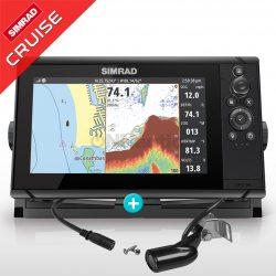 Sonda GPS Plotter Simrad Cruise 9 con transductor 83/200 kHz
