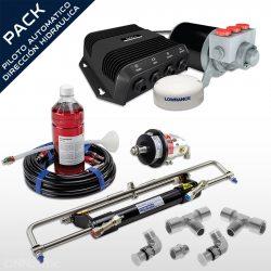 Pack Piloto Automático + Dirección Hidráulica Hydrodrive Hasta 120HP