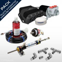 Pack Piloto Automático + Dirección Hidráulica Hydrodrive MU50TF-RA
