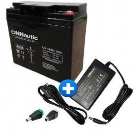 pack bateria 18ah + Cargador inteligente de bateria AGM 2 AH