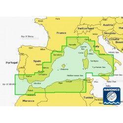 Cartografía Navionics Platinum+ XL3 Mediterranean West