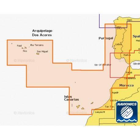 Cartografía Navionics Platinum+ XL Portugal to Azores