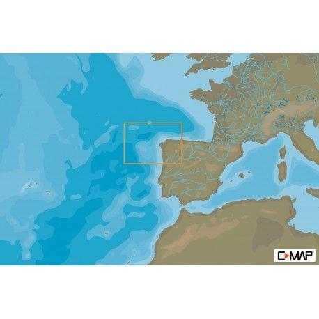 Cartografia C-MAP MAX-N+ LOCAL GALICIA West European Coasts