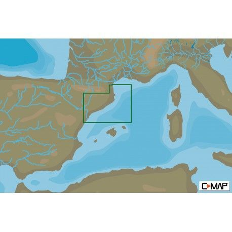C-map max-n+ local peñiscola to port la nouvelle med and black sea