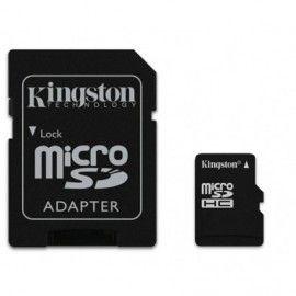 Tarjeta de Memoria MicroSD con adaptador a SD 4GB