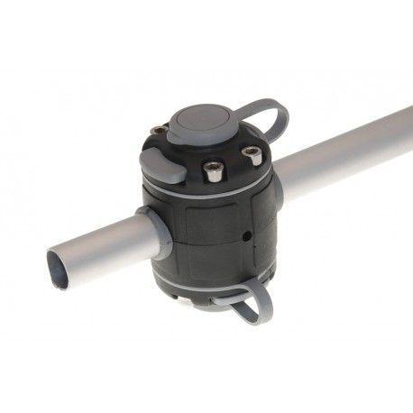 Base BORIKA Fasten DOBLE FMR225B NEGRO para tubo 22-25mm