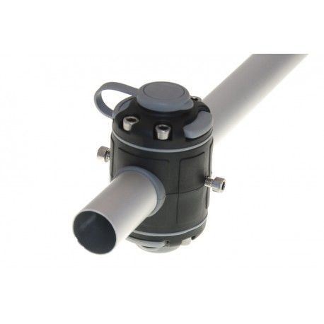 Base BORIKA Fasten DOBLE FMR232B NEGRO para tubo 30-32mm