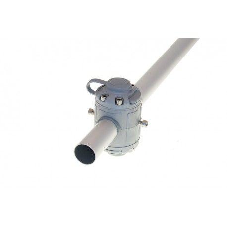 Base BORIKA Fasten DOBLE FMR232G GRIS para tubo 30-32mm
