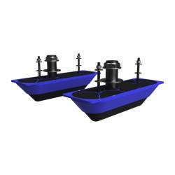 Pareja transductores pasacascos structurescan 3d inox lowrance/simrad