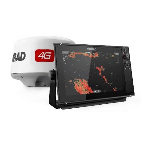 Pack Radar Simrad 4G + Sonda GPS Plotter Simrad NSS12 evo3
