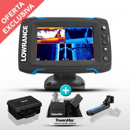 Sonda GPS Plotter Elite-5 Ti TotalScan + Batería PoweryMax