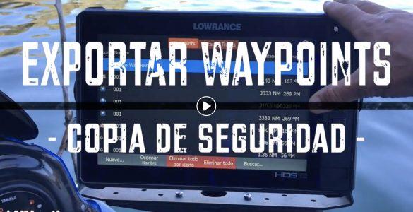 Como exportar los Waypoints para tener una copia de seguridad o importar a otra unidad en Lowrance o Simrad