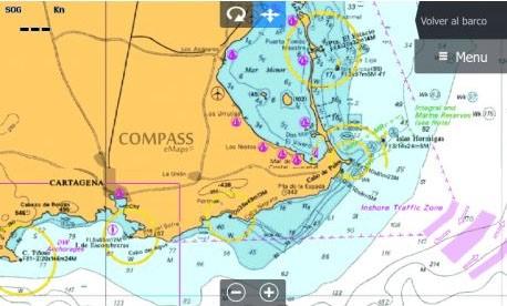 imagen de pantalla Compass E+ Spain Mediterranean