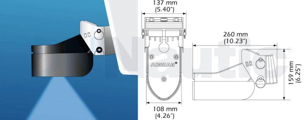 Transductor de popa TM185M CHIRP AIRMAR 1KW XSONIC