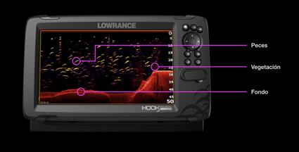 Imagen de la pantalla del Lowrance Hook Reveal