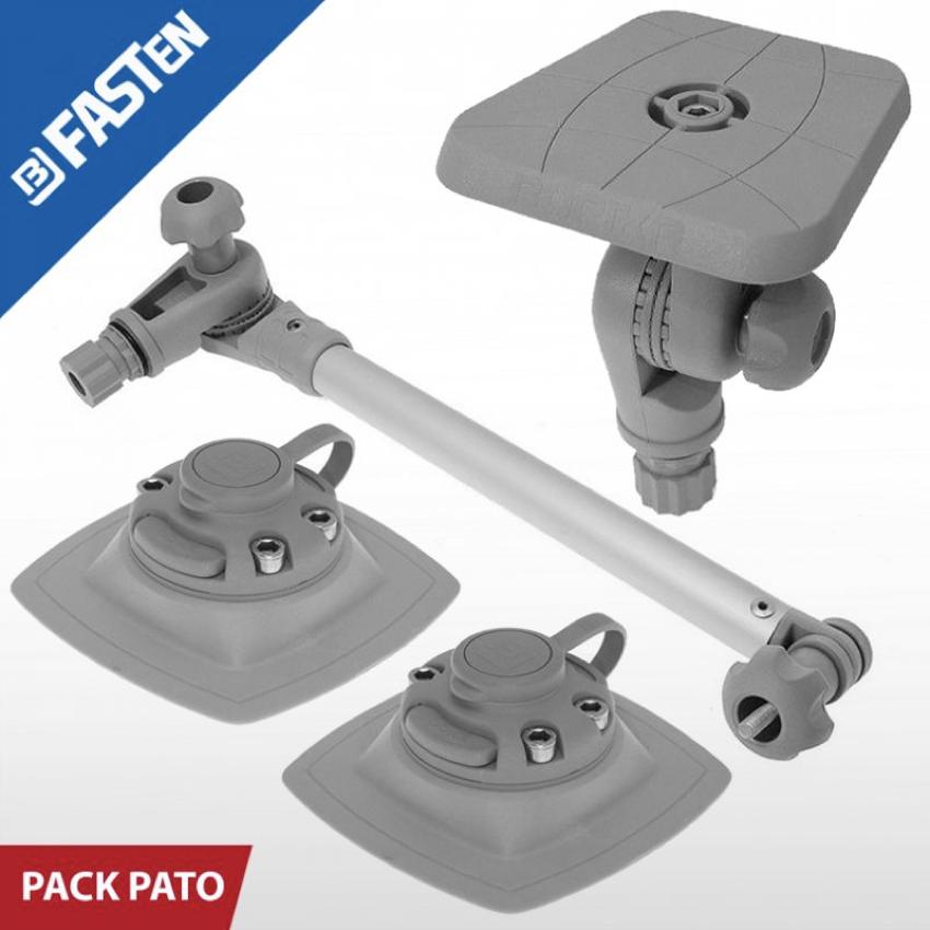 pack con soporte cuadrado en color gris