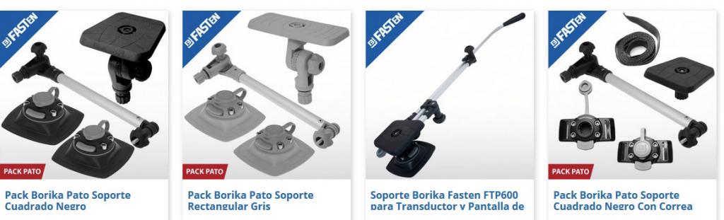 Algunos de los packs y soportes de la marca disponibles en la tienda online onnautic