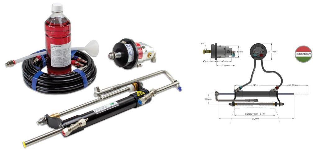 Imagen de las características de la Dirección Hidráulica Hydrodrive MF115MRA Motores Hasta 120HP