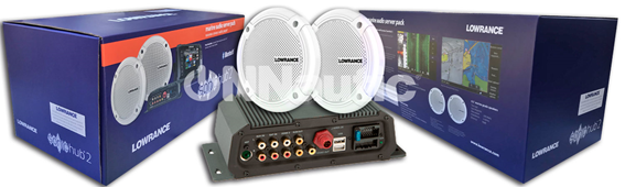 Equipo de audio de la marca Lowrance disponible en onnautic