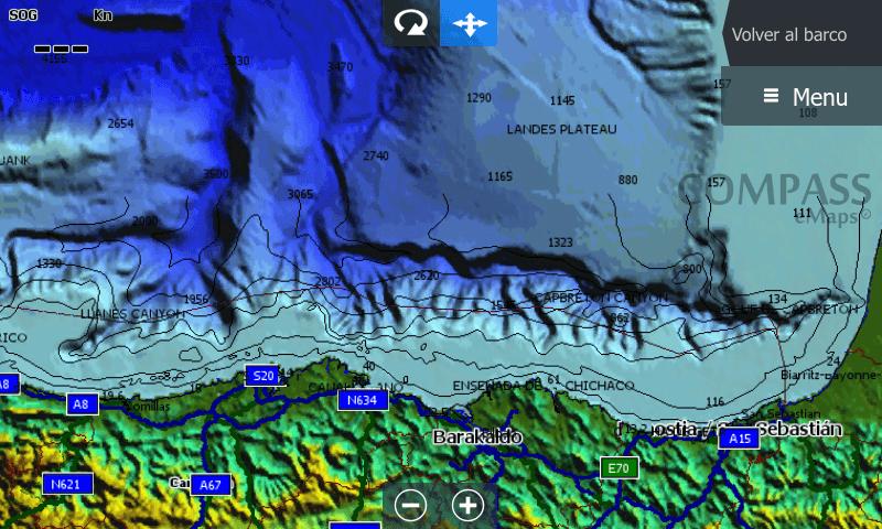Imagen de la cobertura actual del fondo marino de alta resolución HD