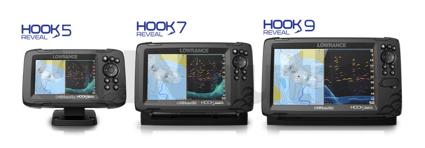 Tamaños disponibles en el Lowrance Hook Reveal