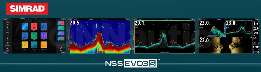 imagen de sondas náuticas Simrad NSS Evo3 / Evo3S disponibles en onnautic