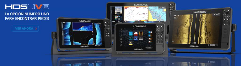 Banner de sondas náuticas lowrance hds live que puedes adquirir en onnautic
