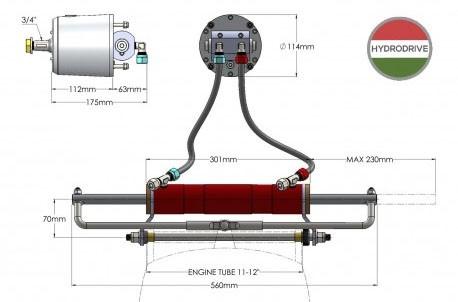 características de la Hydrodrive MF350W Motores Hasta 350HP