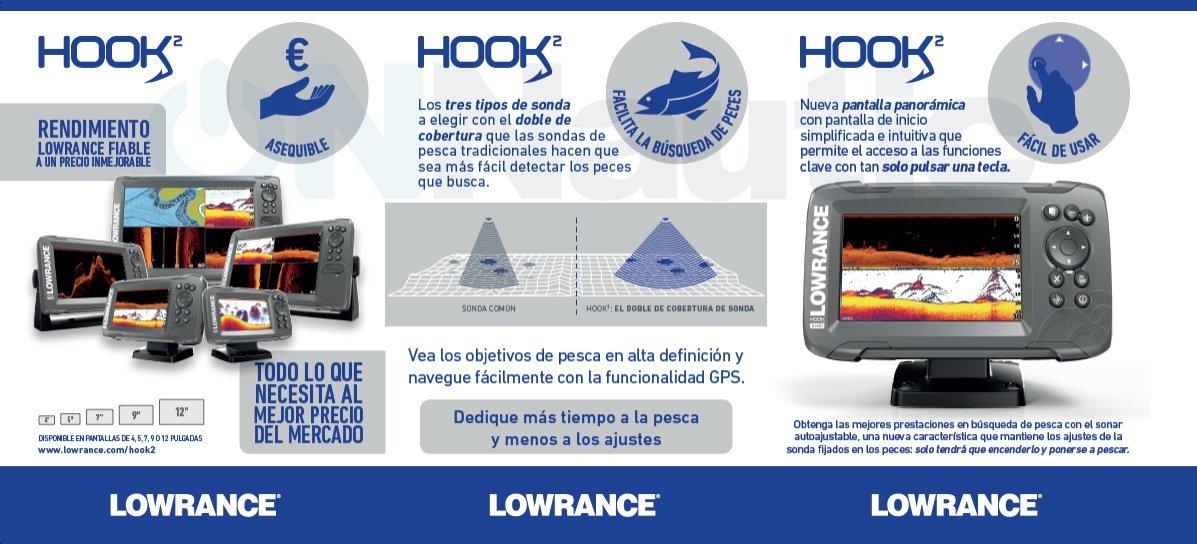 Características Lowrance-Hook2-5x SplitShot