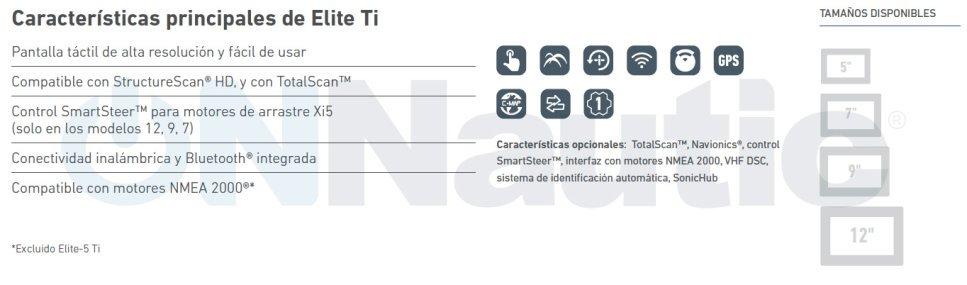 Caracteristicas Elite 9Ti ONNautic