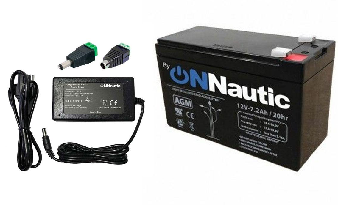 Cargador Inteligente y Bateria 12v 7Ah