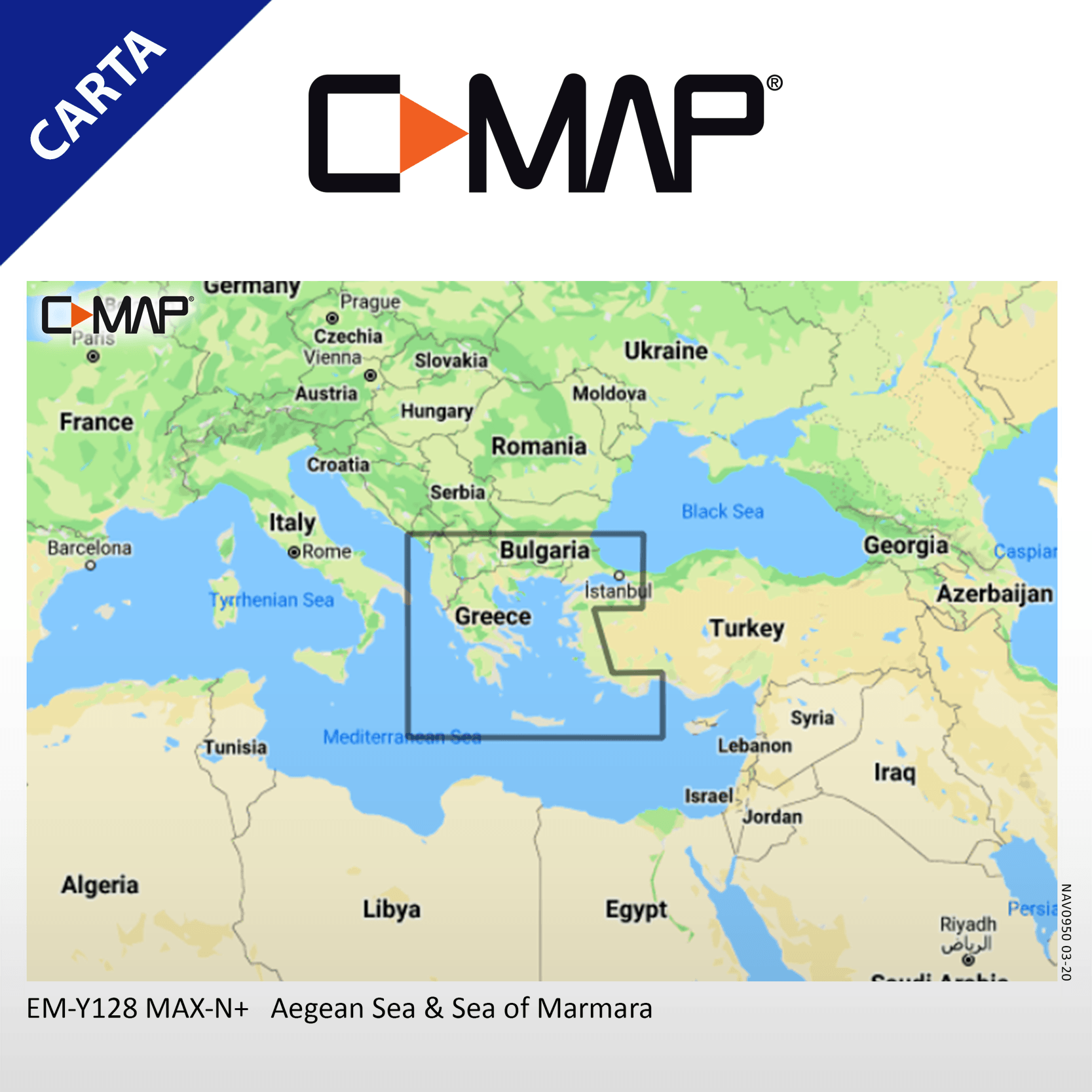 C-MAP MAX-N+ EM-Y128