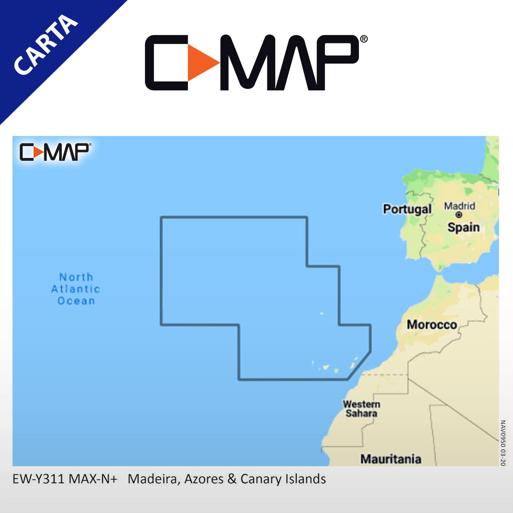 Carta C-MAP-EW-Y311-CMA