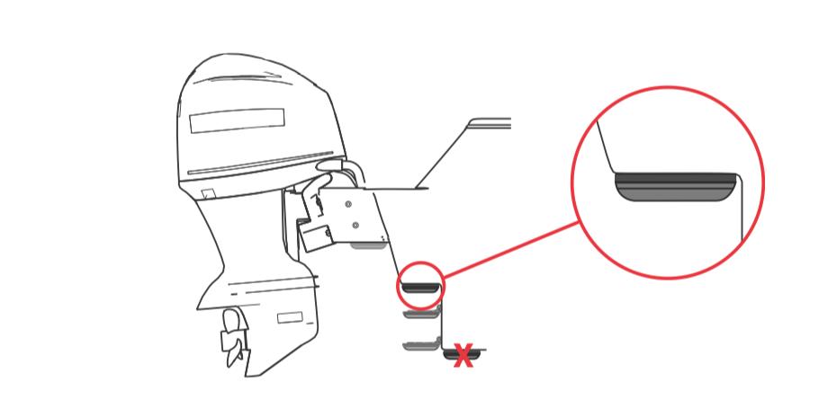 Montaje directo en peldaño soporte empotrado