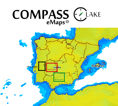 Cartografía Compass eMaps Lake