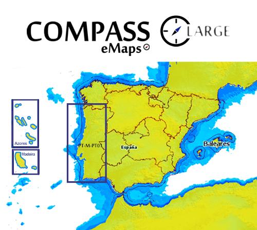 Cartografía Compass eMaps Lake