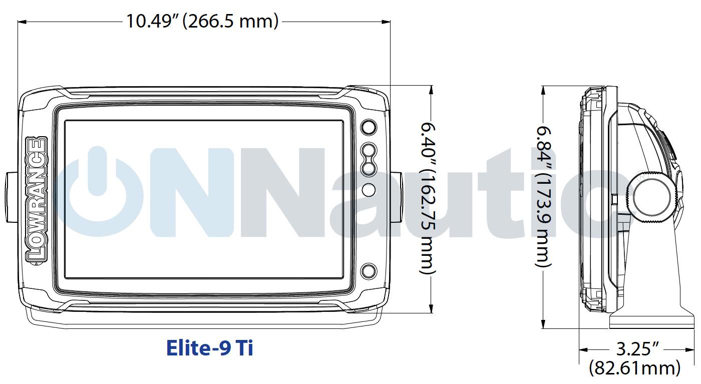 Dimensiones Elite 9Ti ONNautic