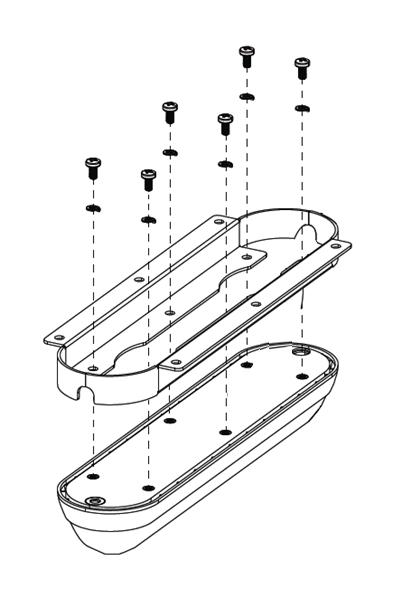 Soporte de montaje plano para el transductor StructureScan 3D Skimmer y TotalScan Skimmer.