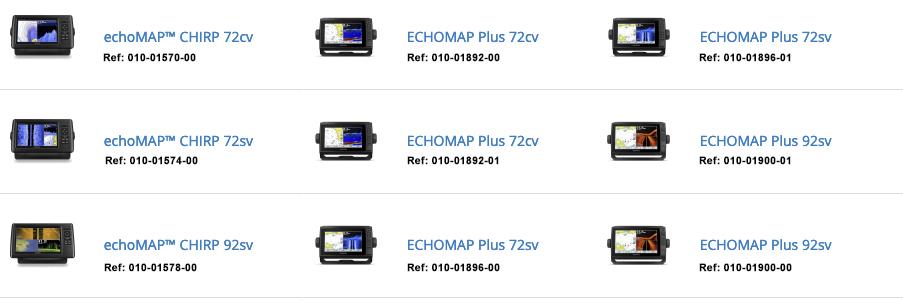 Garmin EchoMap Plus EchoMap Chirp