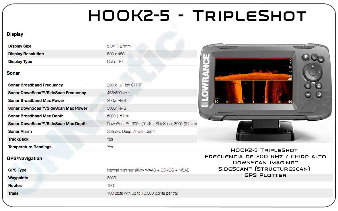 Lowrance Hook2-5 Triple Shot