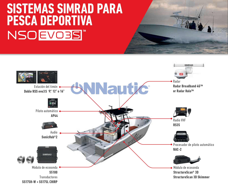NSS Evo3s SIMRAD Conectividad