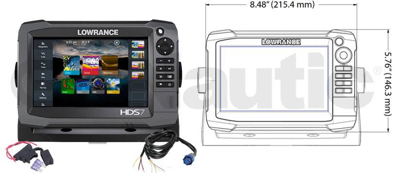 Lowrance HDS7 Medidas