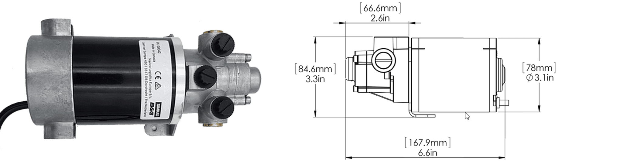 Bomba Hidráulica Reversible Simrad