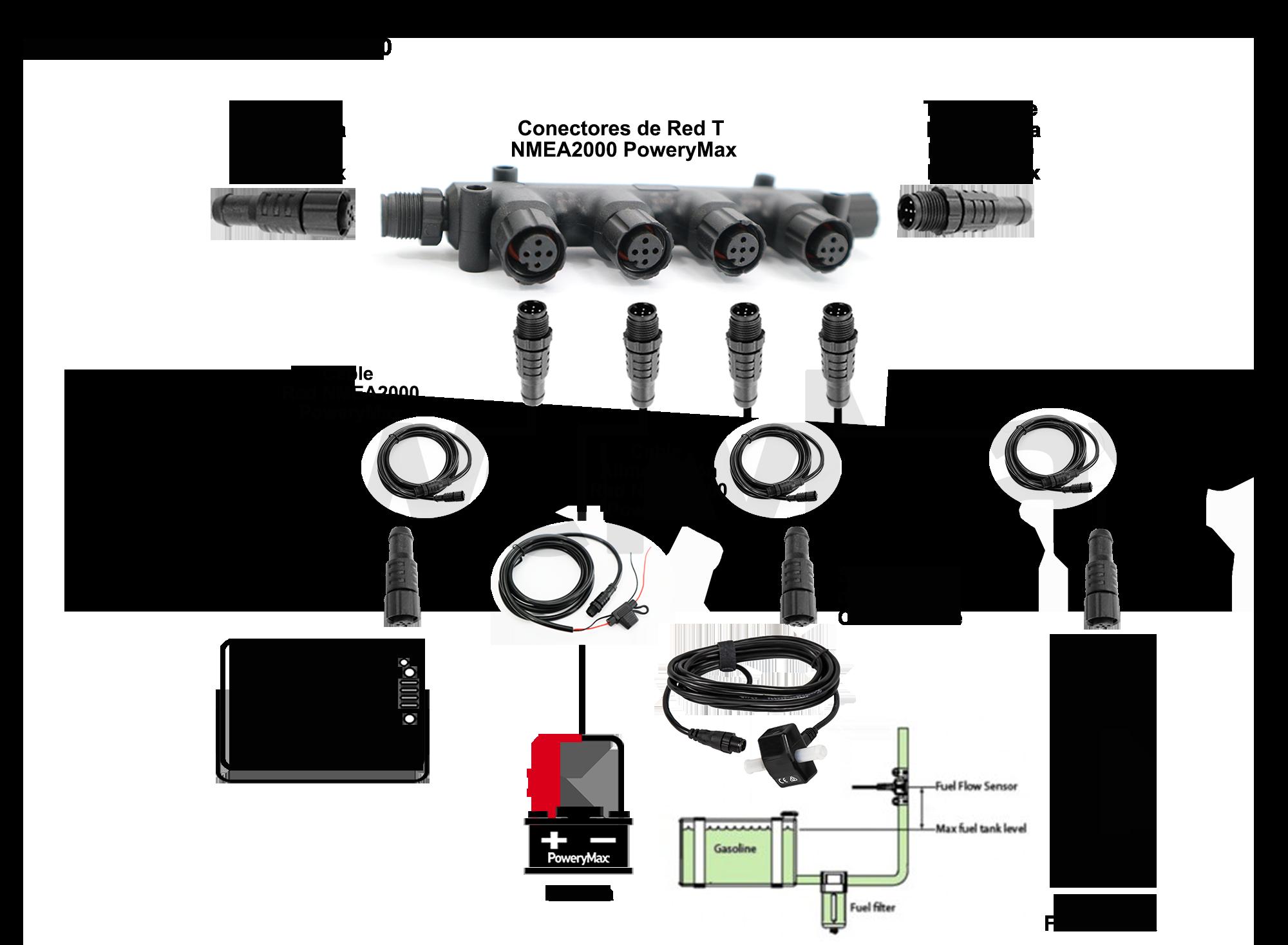 Sensor de flujo Lowrance Simrad