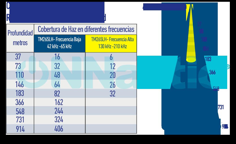 Rango de Frecuencias Transductor TM265LH
