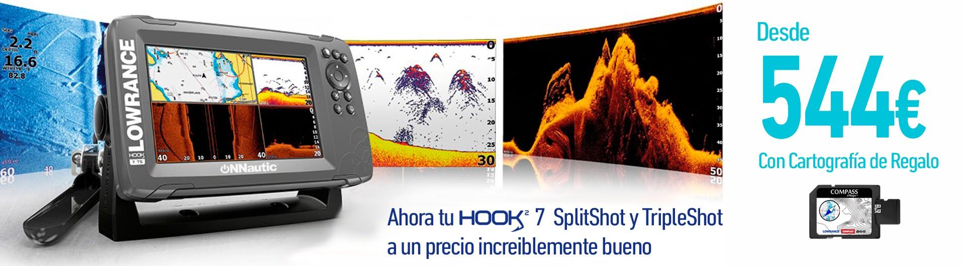 Tu Hook2-7 SplitShot y TripleShot al mejor precio y con cartografía incluida